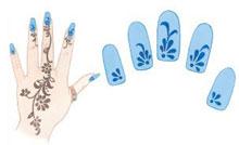 Сочетание дизайна ногтей и татуировки на кисти