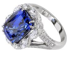 Кольцо с крупным камнем для женщин