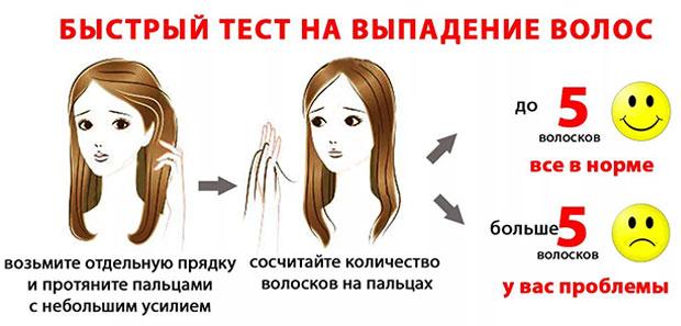 Простой тест на выпадение волос