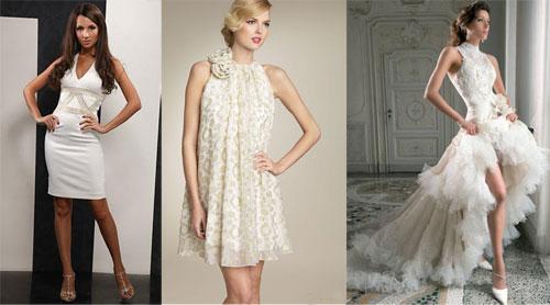 Как выбрать короткое свадебное платье