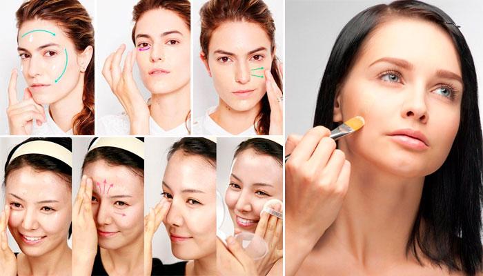 Как нанести тональный крем на лицо правильно