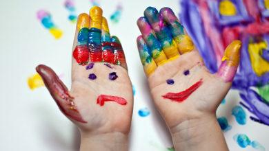 Photo of Пальчиковые краски для малышей. Шедевры на кончиках пальцев
