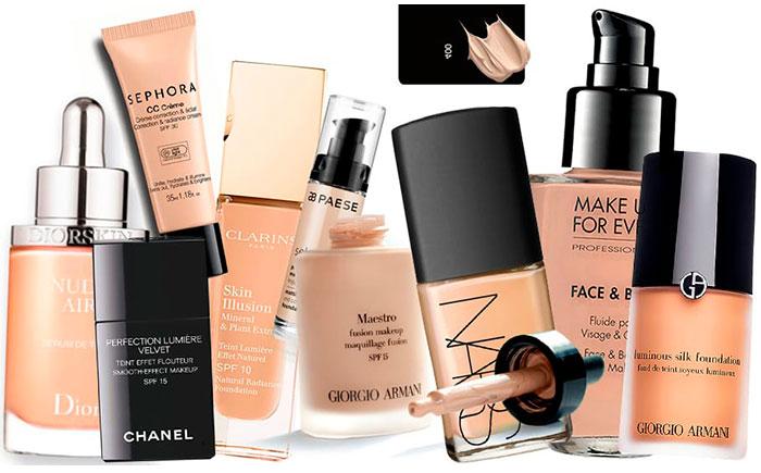 Тональные средства для различных типов кожи