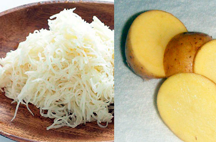 Маска с картофельным соком