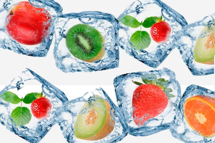 Косметический лед из фруктов