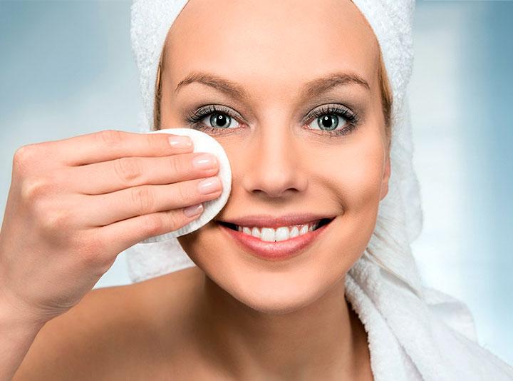 Последовательность удаления косметики с кожи